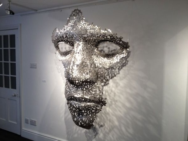 Sculpture: 'cloud Formation (Abstract Outsize Mans Face Sxculpture Pertaining To Newest Kirby Abstract Wall Art (View 9 of 15)