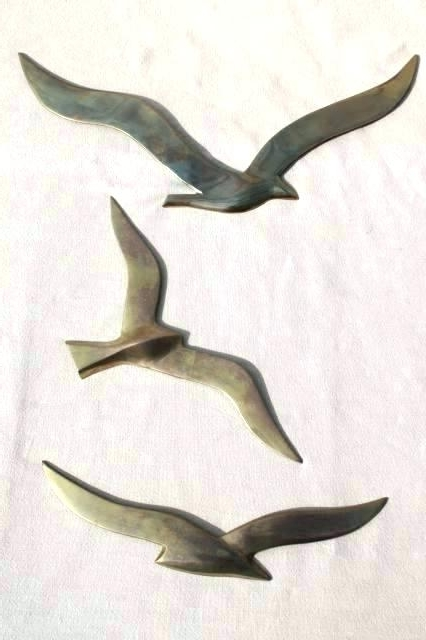 Seagull Metal Wall Art Seagull Wall Art Flying Birds Metal Decor Inside Most Current Flying Birds Metal Wall Art (View 13 of 15)