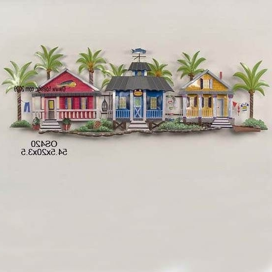 Seaside Metal Wall Art Within Newest Coastal Metal Wall Art Seaside Village In The Palms Metal Wall (View 11 of 15)