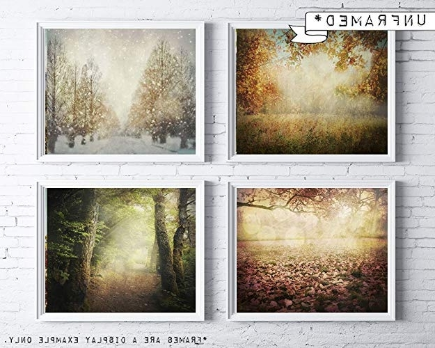 Seasonal Wall Art With Widely Used Amazon: Four Seasons Wall Art – Seasonal Tree Photography – (View 10 of 15)