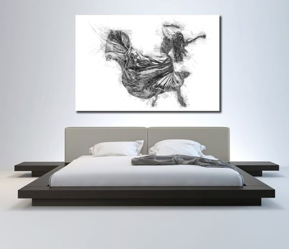 Sensual Wall Art Regarding Most Recently Released Canvas Art Sensual Bedroom Wall Decor Minimalist Bedroom (View 10 of 15)