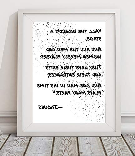 """Shakespeare Wall Art Inside Recent Amazon: Shakespeare Wall Art""""all The World's A Stage (View 5 of 15)"""