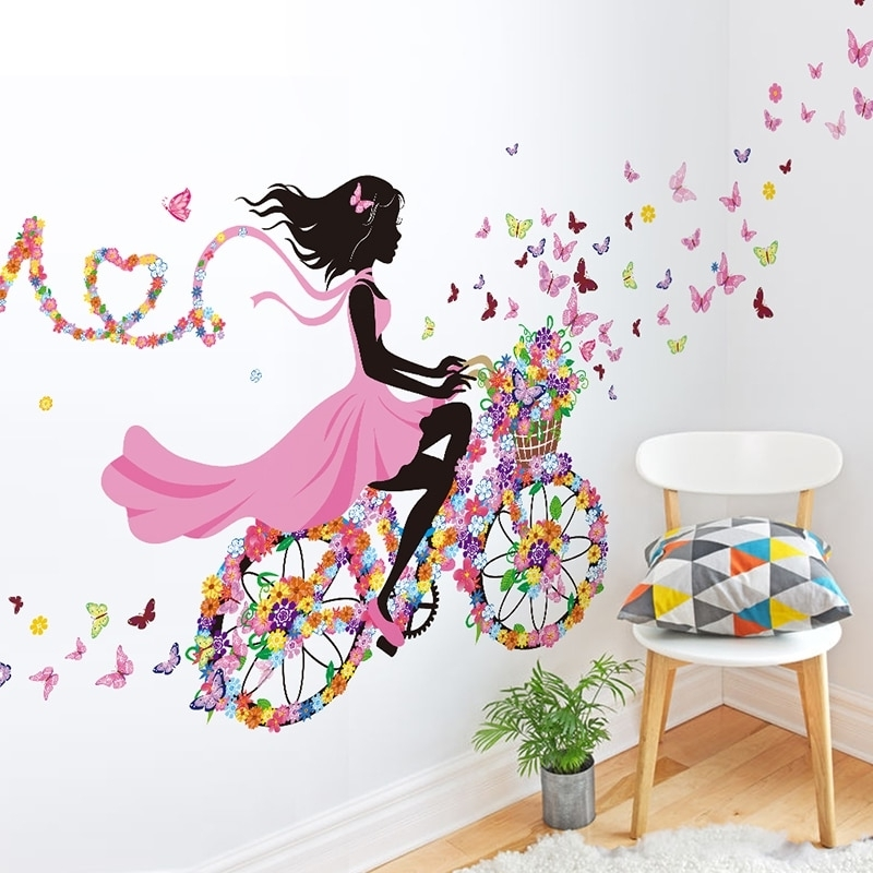 [%Shijuehezi] Girl Wall Stickers Multi Color Bicycle Wall Art For In Recent Wall Art For Girls|Wall Art For Girls Within Widely Used Shijuehezi] Girl Wall Stickers Multi Color Bicycle Wall Art For|Well Liked Wall Art For Girls With Regard To Shijuehezi] Girl Wall Stickers Multi Color Bicycle Wall Art For|Well Known Shijuehezi] Girl Wall Stickers Multi Color Bicycle Wall Art For With Regard To Wall Art For Girls%] (View 2 of 15)