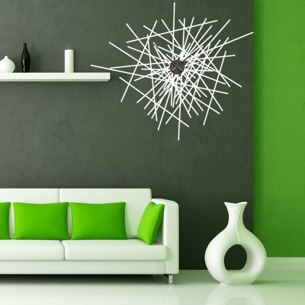 Shop Abstract Wall Clock Vinyl Decor Wall Art – On Sale – Free Within Most Popular Abstract Clock Wall Art (View 14 of 15)