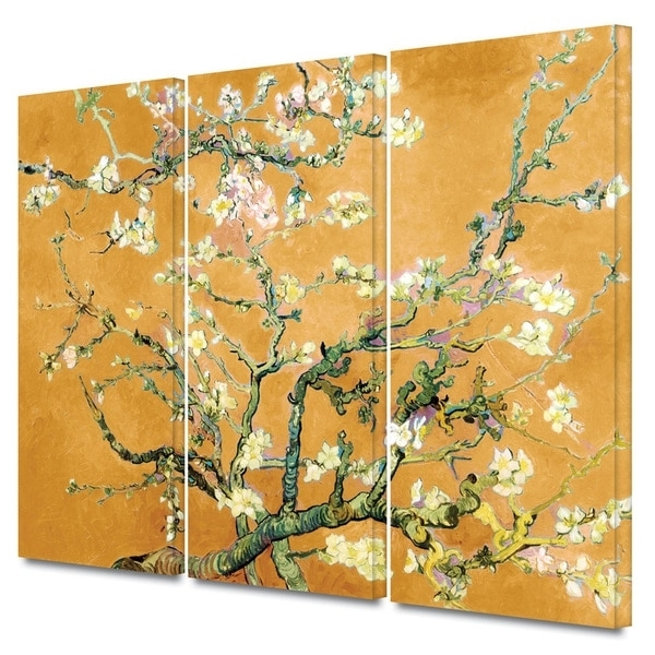 Shop Art Wall Vincent Van Gogh '3 Piece Almond Blossom With Regard To Most Recently Released Vincent Van Gogh Multi Piece Wall Art (View 11 of 15)