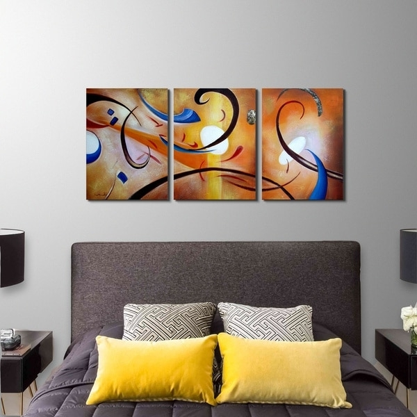 Shop Clay Alder Home Happiness Abstract' Hand Painted Gallery Intended For Recent Happiness Abstract Wall Art (View 3 of 15)