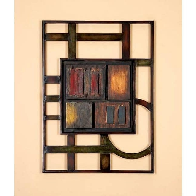 Shop Geometric Modern Metal Abstract Wall Art – Free Shipping Today Throughout Widely Used Geometric Modern Metal Abstract Wall Art (View 11 of 15)