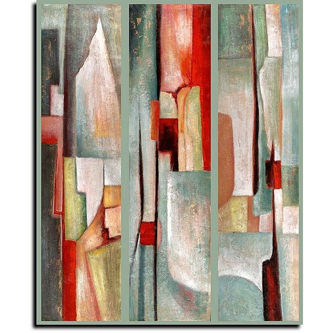 Shop Joval 'abstract Triptych' Canvas Art – On Sale – Free Shipping Regarding Best And Newest Triptych Art For Sale (View 3 of 15)
