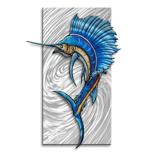 Shop Megan Duncanson 'sailfish 2' Abstract Metal Wall Art – On Sale Inside Well Known Abstract Metal Fish Wall Art (View 12 of 15)