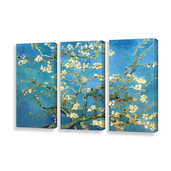 Shop Vincent Van Gogh '3 Piece Almond Blossom' Gallery Wrapped Pertaining To Most Up To Date Vincent Van Gogh Multi Piece Wall Art (View 4 of 15)