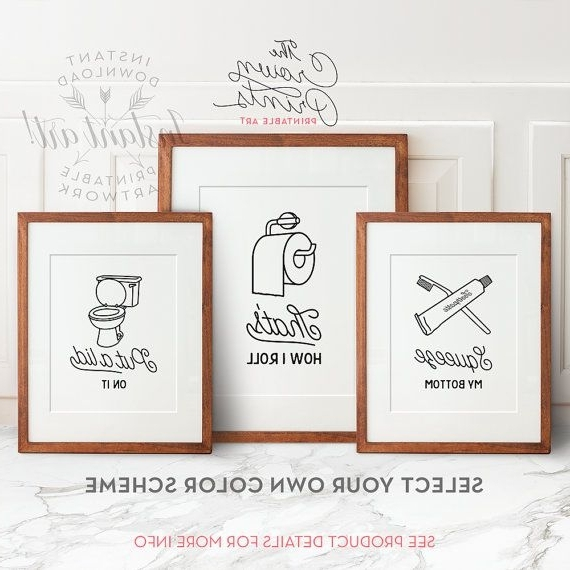 Shower Room Wall Art In Widely Used Brilliant Bathroom Decor Wall Art Ideas With Artwork Decorating Kids (View 10 of 15)