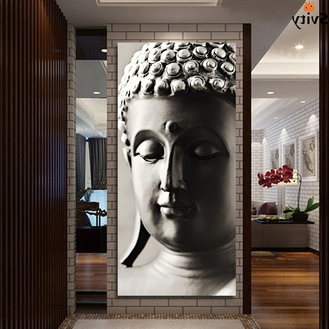 Silver Buddha Wall Art Within Current Special Chinese Styles Painting Silver Buddha Painting 3 Panels (View 8 of 15)