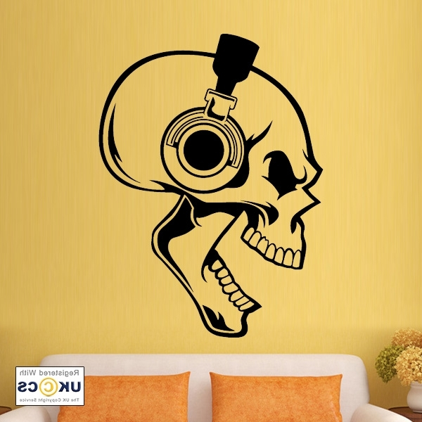 Skullheadphones Layer Popular Wall Art Music – Home Design And Wall Pertaining To Well Known Music Theme Wall Art (View 4 of 15)
