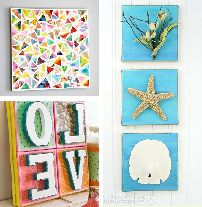 Small Canvas Wall Art Regarding Latest Diy Canvas Wall Art Ideas Amazing Diy Canvas Wall Art – Home Design (View 9 of 15)