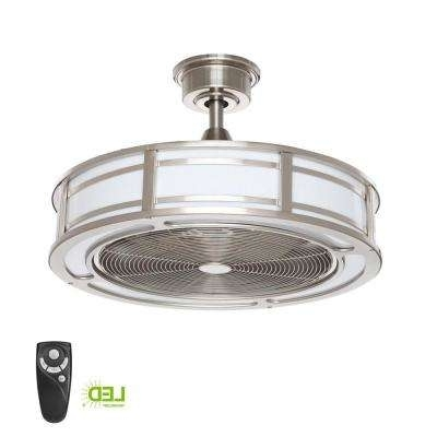Small Room – Ceiling Fans – Lighting – The Home Depot For Most Popular Mini Outdoor Ceiling Fans With Lights (View 12 of 15)