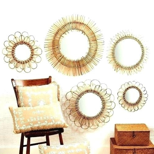 Small Round Mirrors Wall Art Throughout Famous Circle Mirror Decor Small Round Mirrors Wall Art Rattan Mirror Wall (View 11 of 15)