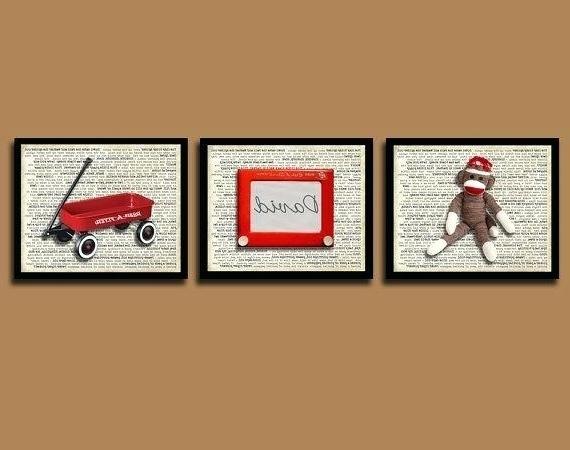 Sock Monkey Wall Art Throughout 2018 Sock Monkey Wall Art Sock Monkeys No More Monkeys Jumping On The Bed (View 12 of 15)