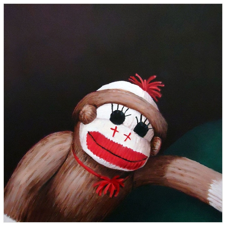 Sock Monkey Wall Art Within Widely Used Sock Monkey, Jungle & Safari Canvas Wall Art (View 13 of 15)