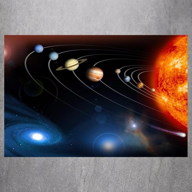 Solar System Wall Art Regarding Most Recent The Solar System Canvas Art Print Painting Poster Wall Picture For (View 10 of 15)