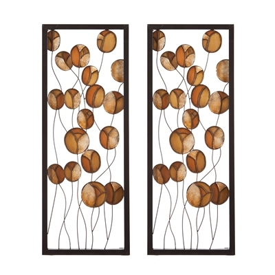 Southern Enterprises Abstract Wall Art Within 2017 Southern Enterprises Home Decor Abstract Metal/capiz Wall Panel 2Pc (View 14 of 15)