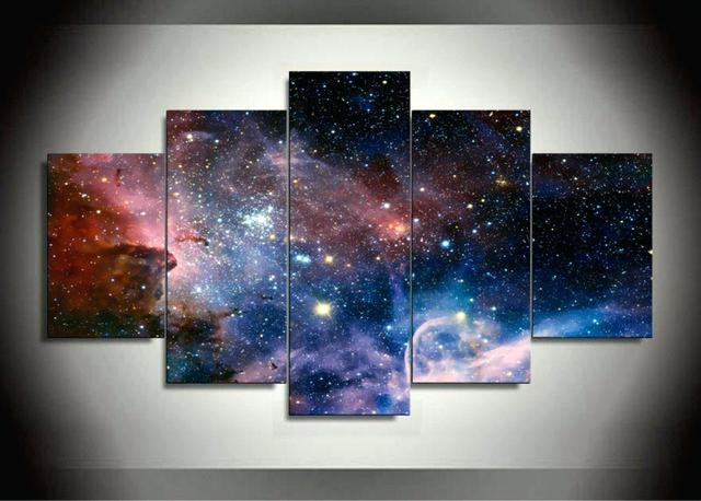Space Canvas Art Home Themed – Darog For Popular Outer Space Wall Art (View 15 of 15)