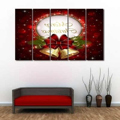 Split Wall Art In Widely Used Wall Art Christmas Bell Print Split Canvas Paintings – $ (View 5 of 15)