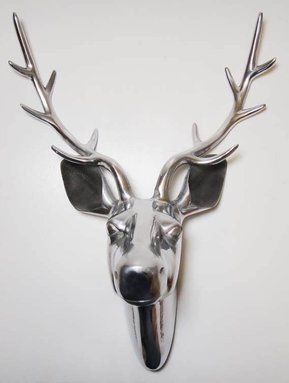 Stag Head Wall Art – Elitflat In Latest Stags Head Wall Art (View 3 of 15)