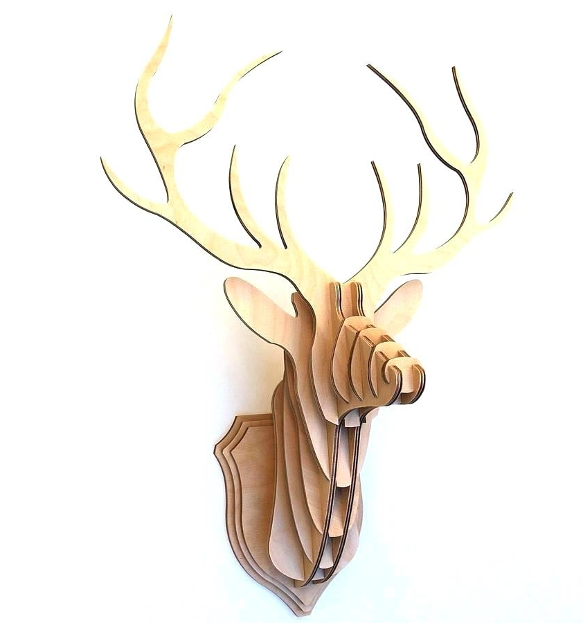 Stag Head Wall Art Inside Most Popular Stag Head Wall Art Stag Head Wall Decor Deer Best Picture Home (View 9 of 15)