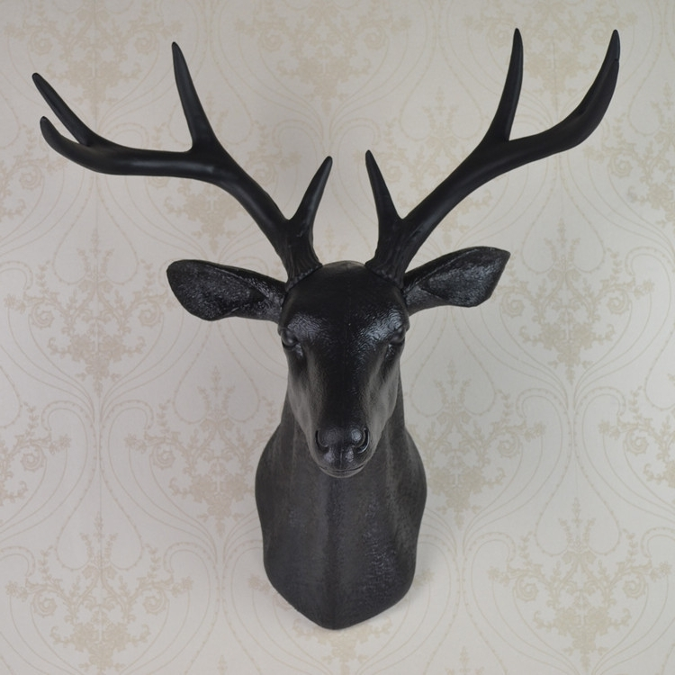 Stag Head Wall Art With Well Liked D New Modern Style Elegant Reindeer Head Wall Decoration (View 13 of 15)