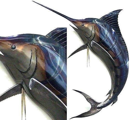 Stainless Steel Fish Wall Art Steel Marlin Sculpture Kids Room For Most Current Stainless Steel Fish Wall Art (View 13 of 15)