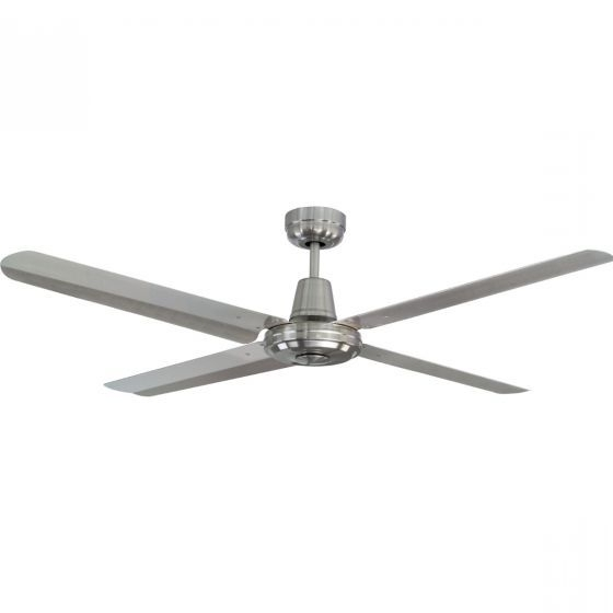 Stainless Steel Outdoor Ceiling Fans Intended For Recent Mercator Swift 316 Marine Grade Stainless Steel Outdoor Ceiling Fan (View 12 of 15)