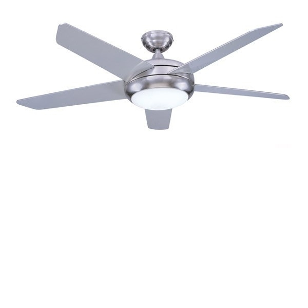 Stainless Steel Outdoor Ceiling Fans With Light Inside Famous Ceiling: Extraordinary Stainless Steel Ceiling Fan Brushed Nickel (View 12 of 15)