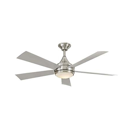 Stainless Steel Outdoor Ceiling Fans With Light Pertaining To Trendy Hanlon 52 In (View 1 of 15)