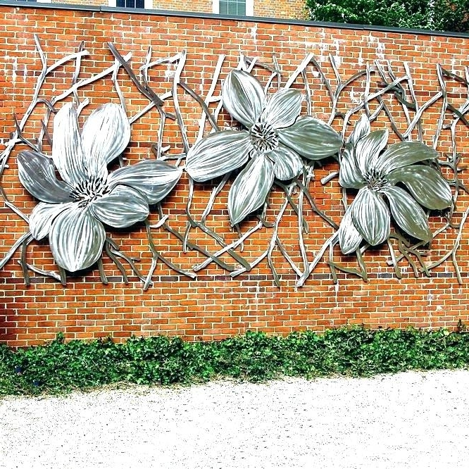 Stainless Steel Outdoor Wall Art Outdoor Wall Art Metal Exterior Inside Well Liked Stainless Steel Outdoor Wall Art (View 1 of 15)
