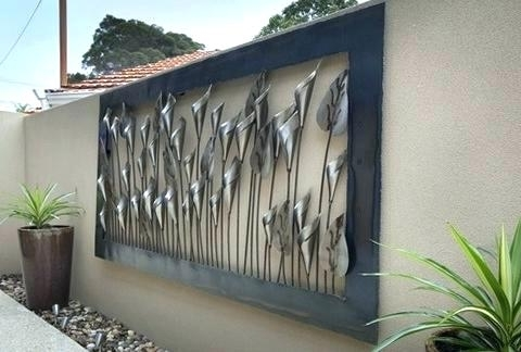 Stainless Steel Outdoor Wall Art Throughout Well Known Outdoor Wall Hangings Metal New Iron Decor Art Pertaining To  (View 8 of 15)