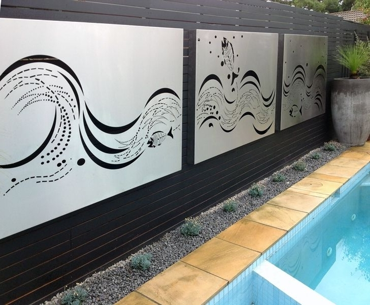 Stainless Steel Wall Art Panels  Paal Grant Landscaping (View 3 of 15)