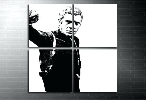 Steve Mcqueen Wall Art Canvas Art Movie Art Print Movie Canvas Art In Most Current Steve Mcqueen Wall Art (View 10 of 15)