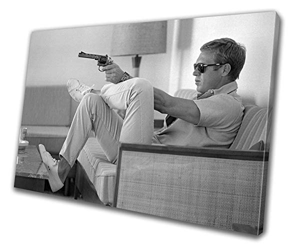 Steve Mcqueen Wall Art Intended For Well Known Amazon: Steve Mcqueen Hollywood Icon Canvas Print Home Decor (View 7 of 15)