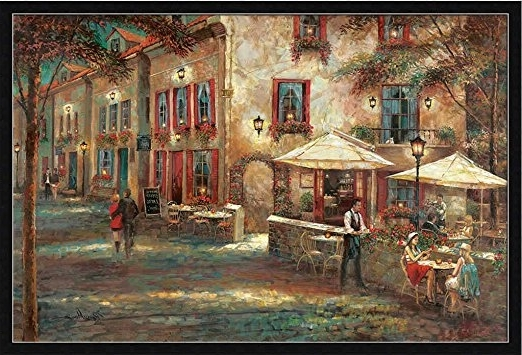 Street Scene Wall Art Throughout Well Known Buy Courtyard Cafe Ruane Manning French Bistro Street Scene Framed (View 5 of 15)