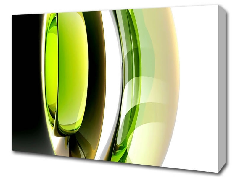 Stretched Canvas Lime Dream Abstract Canvas A Amazing Wall Art Green With Regard To Favorite Green Abstract Wall Art (View 9 of 15)
