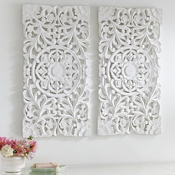 Strikingly Ideas White Wall Decor Simple Design Weird For Bedroom With Favorite Glamorous Wall Art (View 14 of 15)