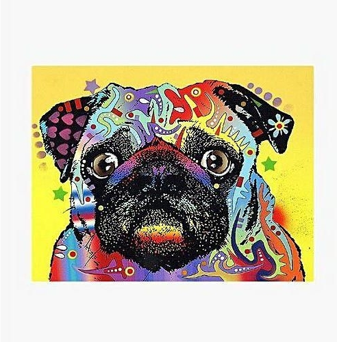 Sunshine Canvas Painting Wall Art Decorative Abstract Dog Animal In Most Current Abstract Dog Wall Art (View 13 of 15)