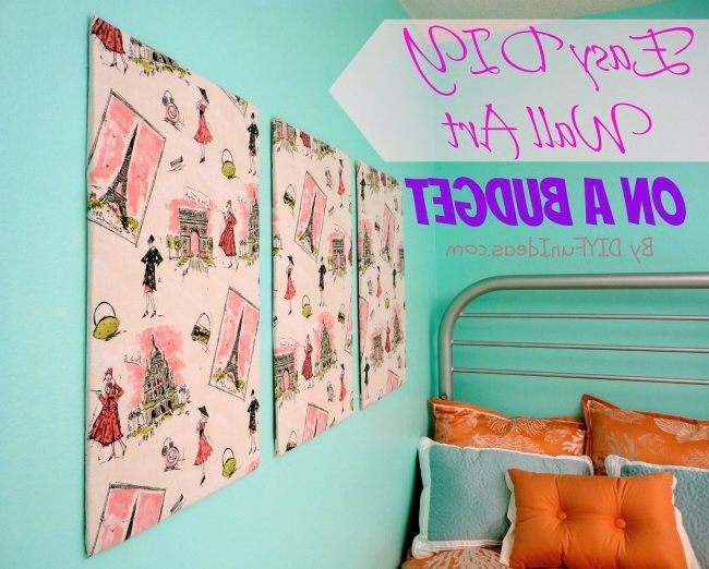 Super Easy Fabric Panel Diy Wall Art On A Budget – Do It Yourself Pertaining To Most Recent Stretched Fabric Wall Art (View 7 of 15)