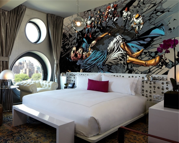 Superhero Bedroom Wall Art For Cool Kids Bedroom Theme With Creative With Regard To Well Known Cool Modern Wall Art (View 12 of 15)