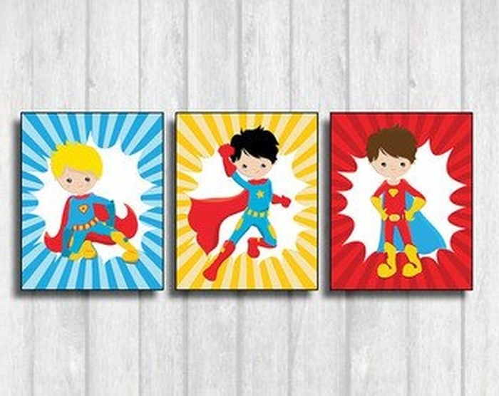 Superhero Wall Art For Kids For Most Recent  (View 11 of 15)