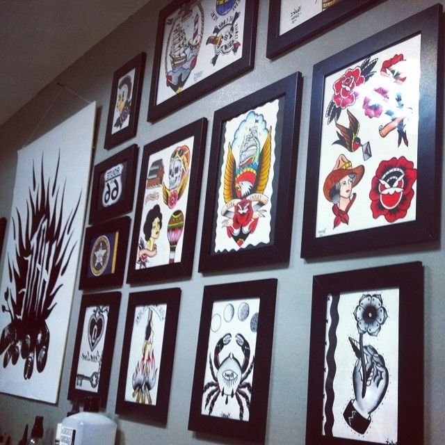 Tattoo Flash Wall Art – Elitflat With Regard To Best And Newest Tattoo Wall Art (View 7 of 15)