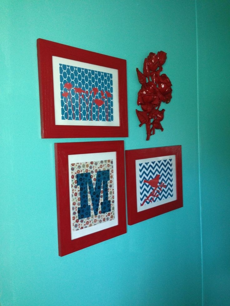 Teal And Red Wall Decor Home Decor Pinterest, Turquoise Wall Art Inside 2017 Red And Turquoise Wall Art (View 12 of 15)