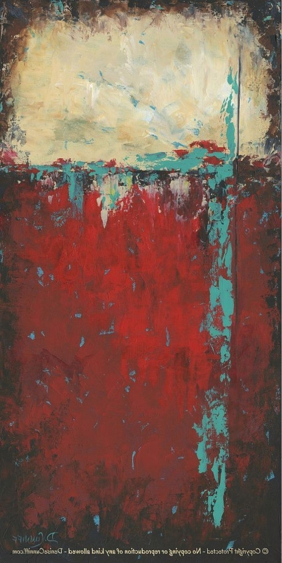 Teal And Red Wall Decor, Southwest Art, Turquoise Black Gold, Tall Inside Fashionable Red And Turquoise Wall Art (View 3 of 15)