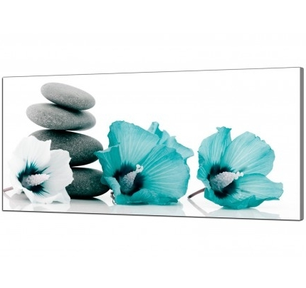 Teal Canvas Pictures Prints & Wall Art – Free Delivery With Most Recent Teal Flower Canvas Wall Art (View 3 of 15)