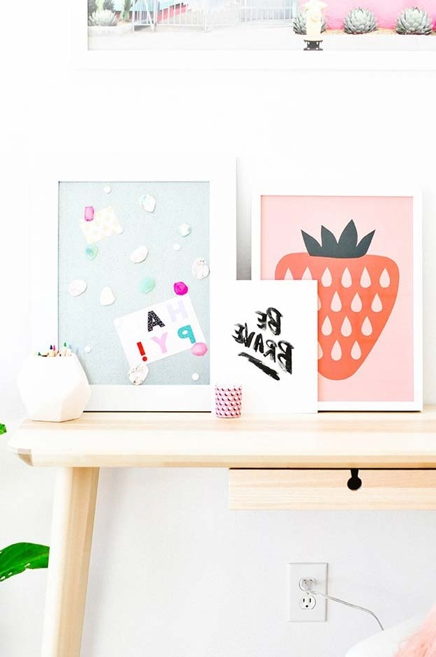 Teenage Wall Art For Current 37 Awesome Diy Wall Art Ideas For Teen Girls (View 6 of 15)